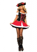 83625 Leg Avenue Costume, aye aye admiral, corset front dress with ve