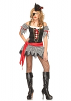 83667 Leg Avenue Costume, wicked wench, includes ribbon trimmed strip
