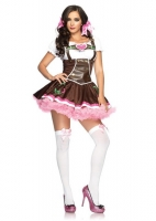 83668 Leg Avenue Costume, Lil German Girl, features ribbon trimmed pe