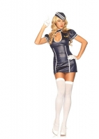 83673 Leg Avenue Costume, layover lucy, includes keyhole dress with c