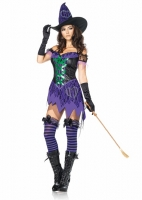 83770 Leg Avenue Costume, Crafty Cutie, includes halter lace trimmed