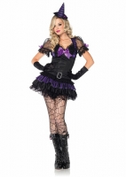 83781 Leg Avenue Costume, Black Magic Babe, includes lace trimmed dre