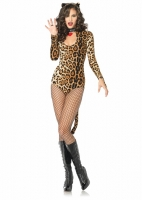 83784 Leg Avenue Costume, Wicked Wildcat, includes keyhole teddy with