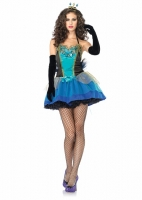83818 Leg Avenue Costume, Blue Beauty, includes jewel toned tutu dres