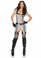 83854 Leg Avenue Costume, Highway Patrol Honey, includes lace trimmed