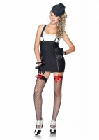 83866 Leg Avenue Costume, Gangster Girl, features pinstriped suspende