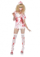 83891 Leg Avenue Costumes, Bloody Nurse Betty, includes tattered zipp