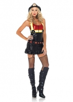 83899 Leg Avenue Costume, Hot Spot Honey includes zipper front wet lo