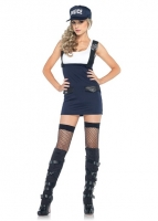 83910 Leg Avenue Costumes, Arresting Officer, includes suspender dres