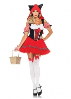 83931 Leg Avenue Costumes, Red Riding Wolf, includes gingham trimmed