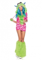 83933 Leg Avenue Costumes, Melody Monster, includes dotted dress with