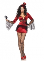 83939 Leg Avenue Costumes, Neck Biting Vamp, features stretch velvet