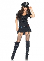 83952 Leg Avenue Costume, Sergeant  includes button front garter