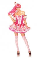 83993 Leg Avenue Costumes, Babycake, includes halter dress with ribbo