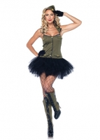 85005 Leg Avenue Costumes, USO Girl, tutu halter dress with embroider