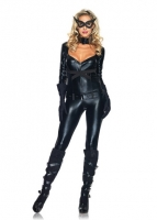 85015 Leg Avenue Costume, Cat Girl, includes zipper front jumpsuit wi