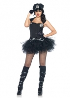 85016 Leg Avenue Costumes, Handcuff Honey, includes button front tutu