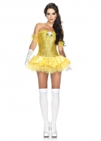 85027 Leg Avenue Costume, Enchanting Beauty, tulle trimmed sequin cor