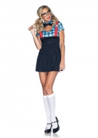 85032 Leg Avenue Costume, Naughty Nerd includes dress, bow tie choker