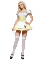 8948 Leg Avenue Costume,  coldilocks yellow gingham Costume peasa