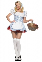 8949 Leg Avenue Costume,  mary lycra blue gingham Costume peasant