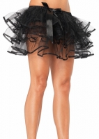 A1697 Leg Avenue Petticoat, Layered tulle petticoat with satin bow ac