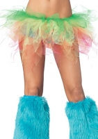 A1984 Leg Avenue Rave Wear,  Rainbow jagged edge tulle tutu.