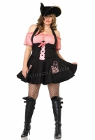 83207X Leg Avenue Plus Size Costume, Treasure Hunt Pirate Costume, In