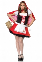 83480X Leg Avenue Plus Size Costume, Lil Miss Red Costume, Includes h