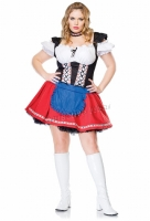 83525X Leg Avenue Plus Size Costume, Frisky Frauline Costume, Include