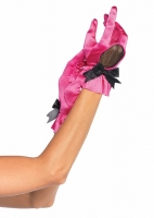 2032 Leg Avenue Gloves, Wrist length satin glove with fishnet cut out