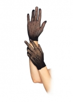 2119 Leg Avenue Gloves,  Stretch net dotted gloves with floral ac