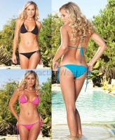 81357 Leg Avenue Bikini,  Spandex bikini set with side ties and r