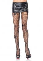 9947Q Leg Avenue, Plus size Black widow spider net pantyhose.