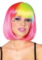 A1986 Leg Avenue Rave Wear, Pop rainbow bang bob wig