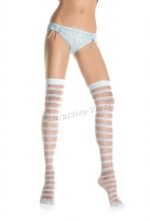 1005 Leg Avenue Stockings,  sheer and opaque striped thigh highs