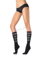 5570 Leg Avenue Stockings,  acrylic double striped top knee highs
