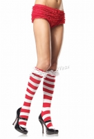 5584 Leg Avenue Stockings  candy cane knee socks Stockings with e