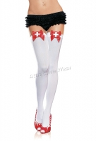 6250 Leg Avenue Stockings,  naughty nurse opaque thigh highs Stoc