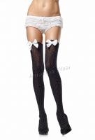 6279 Leg Avenue Stockings,  opaque polka dots thigh highs Stockin