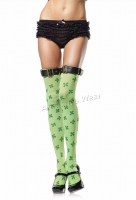 6501 Leg Avenue Stockings,  lucky Clover thigh highs Stockings wi