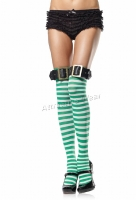6898 Leg Avenue Stockings,  Striped thigh highs Stockings with le