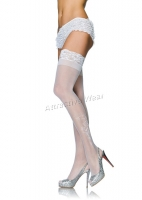 9099Q Leg Avenue Plus Size Stocking, Sheer stay up thigh highs Stocki