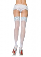 9118Q Leg Avenue Stockings, stay up backseam thigh highs with corset