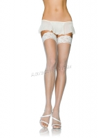 9136Q Leg Avenue Plus Size Stocking, spandex stay up micro fishnet th