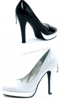 Ph451-Sonya Penthouse   Shoes, 4.5 inch high heels patent
